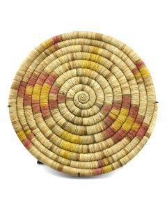 """Hopi Polychrome Coiled Plaque c. 1900s, 1.5"""" x 13.5"""""""