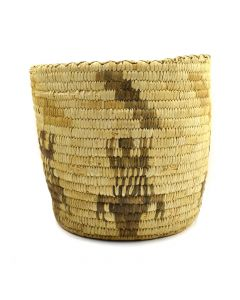 "Tohono O'odham Basket with Lizard Design c. 1940s, 9.25"" x 10.25"""