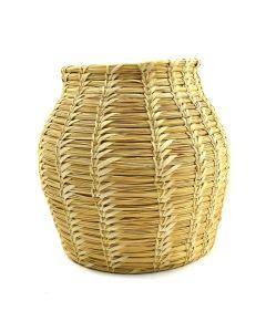 "Tohono O'odham Gap Stitch Basket c. 1950-60s, 10"" x 9.5"""