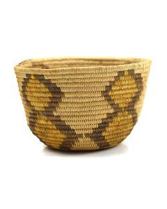 "Panamint Polychrome Basket c. 1920s, 2.75"" x 5.25"""