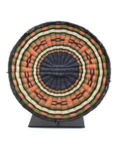 """Hopi Polychrome Wicker Plaque c. 1960s, 1.25"""" x 9.25"""""""