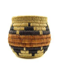 "Navajo Basket with Wedding Ceremony Designs c. 1950s, 5.5"" x 5.5"""