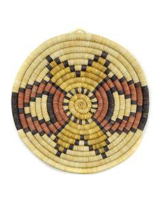 "Hopi Coiled Plaque c. 1990s, 1.5"" x 11.25"""