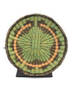 """Hopi Polychrome Wicker Plaque c. 1950s, 1.25"""" x 8.5"""""""
