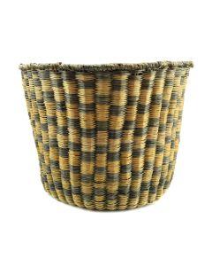 "Hopi Peach Basket with Checkered Design c. 1930s, 7.5"" x 9.75"""