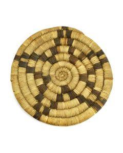 "Hopi Coiled Plaque with Star Design c. 1930s, 6.75"" diameter"