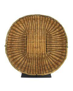"Hopi Wicker Plaque c. 1900-20s, 1.25"" x 12.75"" 1"
