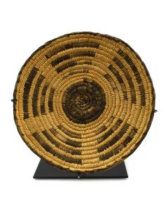 "Pima Coiled Basket c. 1920s, 1.25"" x 8.5"""