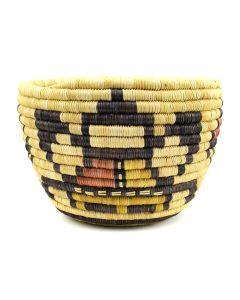 """Hopi Polychrome Coiled Basket c. 1960s, 6"""" x 8.25"""""""
