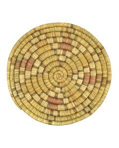 """Hopi Polychrome Coiled Plaque c. 1920s, 1.5"""" x 15.5"""""""