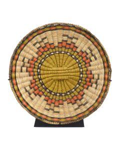 """Hopi Polychrome Wicker Plaque c. 1960s, 1.25"""" x 12"""""""