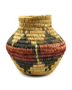 "Navajo Wedding Basket Design Olla c. 1950s, 7.5"" x 7"""