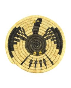 """Hopi Coiled Tray with Bird Design c. 1960-70s, 1.5"""" x 8.25"""""""