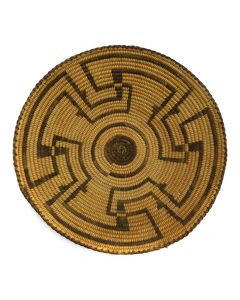 "Pima Tray with Whirling Logs Design c. 1920s, 2.25"" x 10.5"""