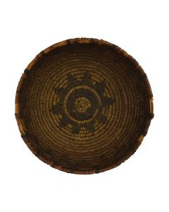 "Apache Basket with Star Design c. 1890s, 2"" x 6.25"" (SK2895)"