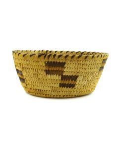 "Tohono O'odham Basket with Geometric Designs c. 1940s, 2"" x 5.25"""