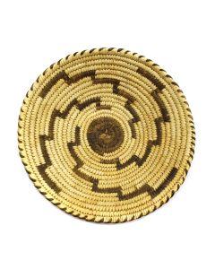 "Tohono O'odham Basket with Spiral Design c. 1960s, 1.5"" x 7"" (SK2917)"
