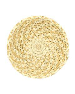 "Tohono O'odham Gap Stitch Basket c. 1977-1983, 1.5"" x 8.25"" (SK2926)"