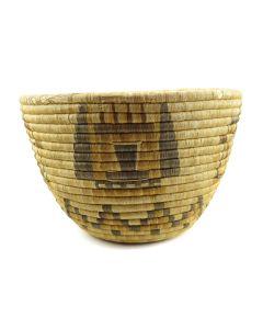 "Lot 241 - Hopi Polychrome Basket with Kachina Pictorials c. 1900-20s, 9.375"" x 14.5"" (SK2929)"
