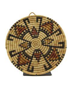 """Hopi Polychrome Coiled Plaque c. 1940s, 14"""" x 13"""" (SK2938)1"""