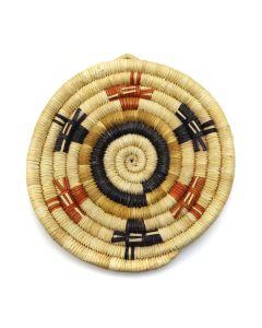 """Hopi Polychrome Coiled Plaque c. 1960-80s, 6.5"""" x 6"""" (SK2949)"""