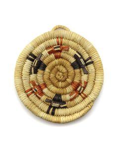 """Hopi Polychrome Coiled Plaque c. 1960-80s, 3.625"""" x 3.25"""" (SK2952)"""