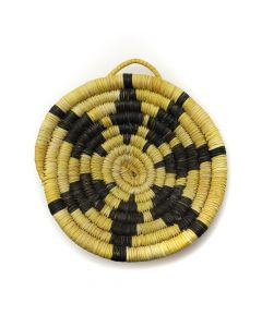 "Hopi Coiled Plaque c. 1960-80s, 3.75"" x 3.625"" x 1"" (SK2953)"