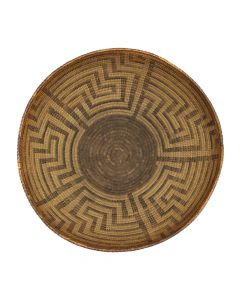 "Pima Basket with Geometric Design c. 1912-14, 6.25"" x 13.5"" (SK2961)"