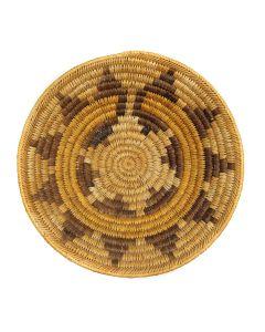 """Navajo Coiled Wedding Basket c. 1960s, 3.25"""" x 13"""" (SK2966)"""