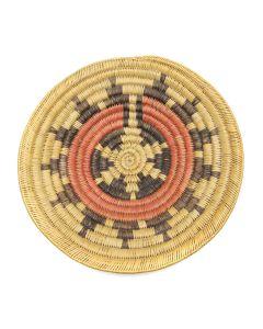"""Navajo Polychrome Wedding Basket c.1950s, 2.625"""" x 12.5"""" (SK2967)"""