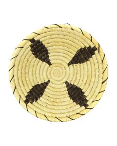 "Tohono O'odham Coiled Pictorial Basket c. 1960s, 2.25"" x 10.5"" (SK2974)"