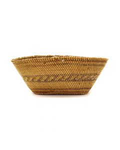 """Makah Oval Basket c. 1900-20s, 2"""" x 6"""" x 4"""" (SK2985)"""