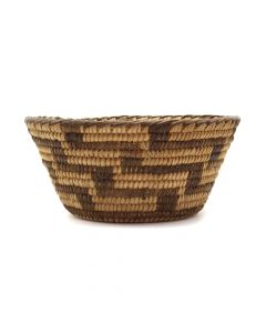 "Pima Basket with Lightning Design c. 1920s, 2.5"" x 5.5"" (SK2993)"
