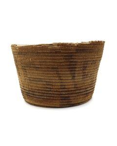 "Pima Basket with Geometric Design c. 1900s, 5.5"" x 9.25"" (SK3008)"