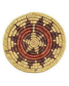 """Navajo Polychrome Wedding Basket c. 1950s, 2.5"""" x 13"""" (SK3014)"""