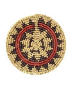 """Navajo Polychrome Wedding Basket c. 1950s, 2.25"""" x 14.5"""" (SK3015)"""