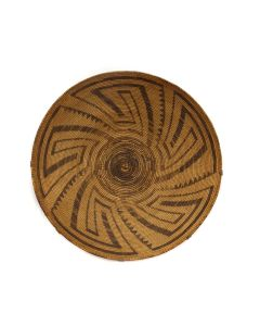 """Pima Tray with Whirling Logs Design c. 1900s, 3"""" x 17"""" (SK3027)"""