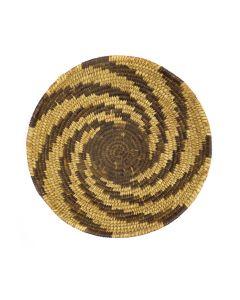 "Tohono O'odham Tray with Spiral Design c. 1950s, 3.75"" x 10"" (SK3029)"