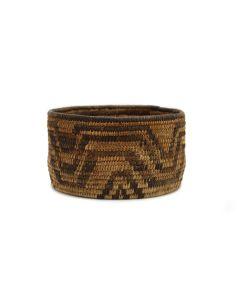 "Pima Basket with Geometric Design c. 1900s, 3"" x 5.5"" (SK3031)"