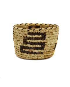 "Tohono O'odham Basket c. 1960s, 3.75"" x 5.25"" (SK3037)"