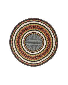 """Hopi Polychrome Wicker Plaque c. 1980s, 12.75"""" diameter (SK3071)"""