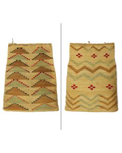 "Nez Perce Double-Sided Corn Husk Bag with Germantown Yarn c. 1900s, 20"" x 16"" (SK90199-1220-001) 4"
