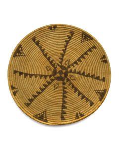 "Apache Plaque with Geometric Design c. 1910s, 1"" x 12.5"""