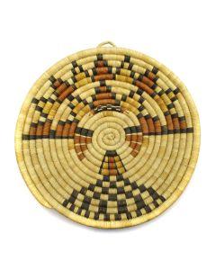 "Lorena Kewewayouu - Hopi Coiled Polychrome Kachina Plaque c. 1970s, 1.625"" x 11.75"""