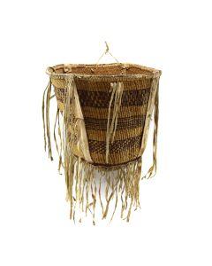 """Apache Burden Basket c. 1890s, 12"""" x 13.5"""""""