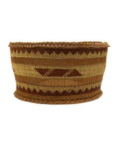 "Yurok Basket c. 1920s, 4"" x 7.75"" (SK90425A-0220-001)"