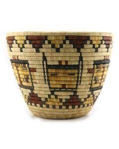 "Hopi Polychrome Kachina Coiled Basket, c. 1960s, 8.5"" x 11"" (SK90601A-0815-046)1"