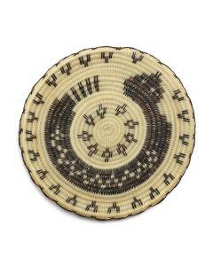 "Tohono O'odham Miniature Horsehair Basket with Rattlesnake Picotorial c. 2000, 2.5"" diameter (SK90747A-0620-002)"