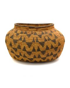 "Mary Snyder (1880-1930) - Chemehuevi Oblong Basket c. 1920s, 6.5"" x 11"" x 8.5"" (SK90751-0420-001)"