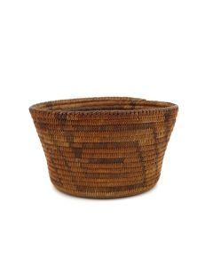 "Pima Basket with Geometric Design c. 1890-1900s, 3.75"" x 6"" (SK90803-0721-007)"